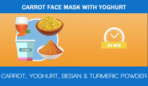 Carrot-face-mask-with-yoghurt