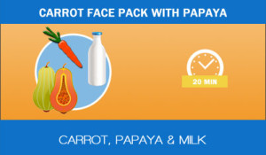 Carrot-face-pack-with-papaya