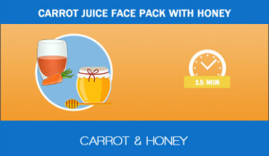 Carrot-juice-face-pack-with-honey