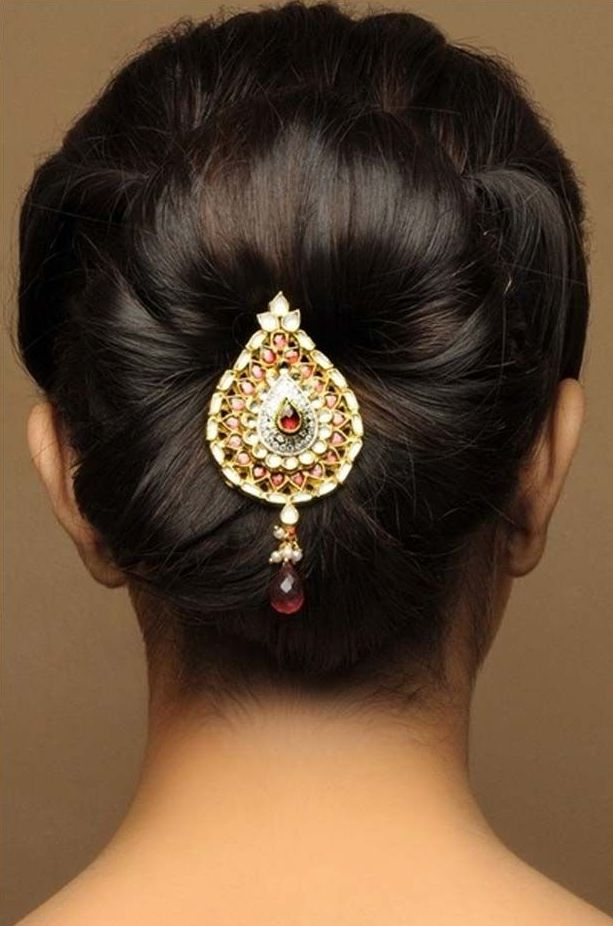 Latest Bridal Hairstyles For Wedding Sarees
