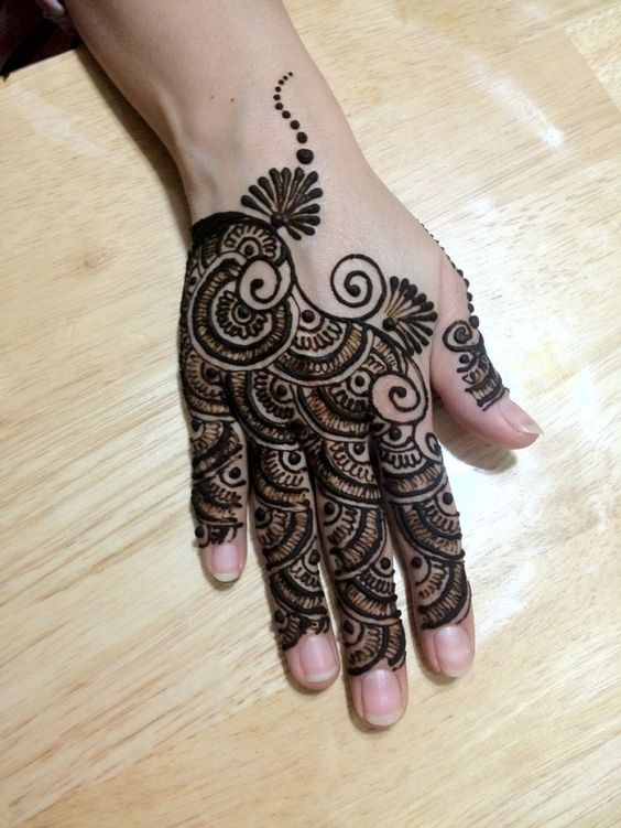 Back hand exclusive gujarati mehndi design