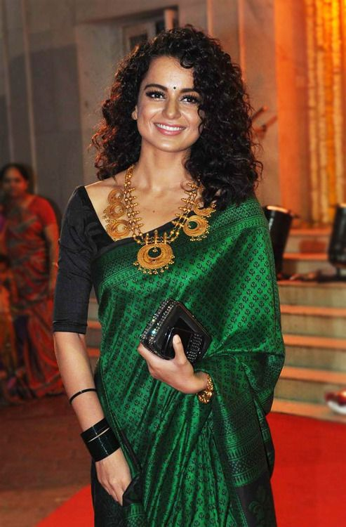Latest hairstyle with curls for designer saree on wedding occasion