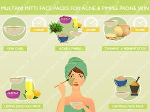 How To Use Multani Mitti Face Packs For Acne Amp Pimple
