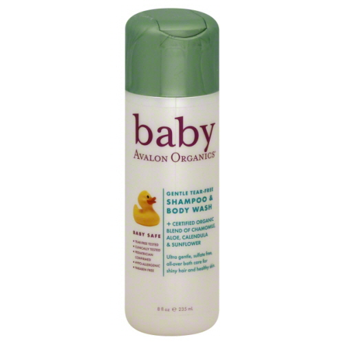 Avalon organics tear free baby shampoo and body wash – 8 fl OZ