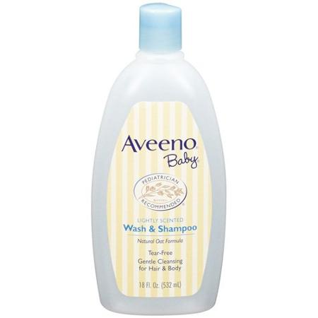 Aveeno lightly scented baby wash and shampoo- tear free – 18 OZ