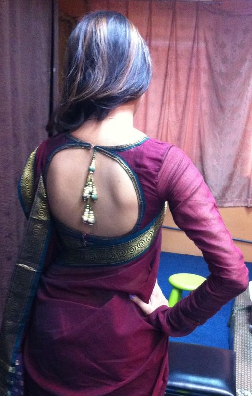 Blouse back design 8