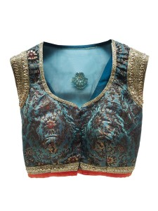 Blouse design deep neck 9