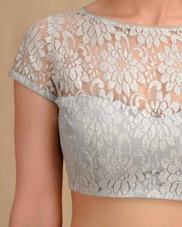 Blouse Neck Designs With Lace 78