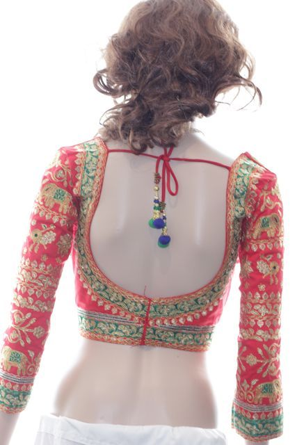 Blouse designs with quarter sleeves 6