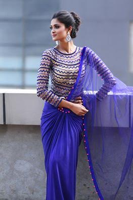 blouse-for-blue-plain-saree