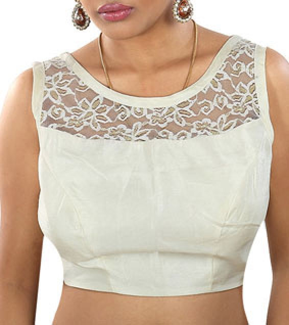 Blouse Neck Designs With Lace 66