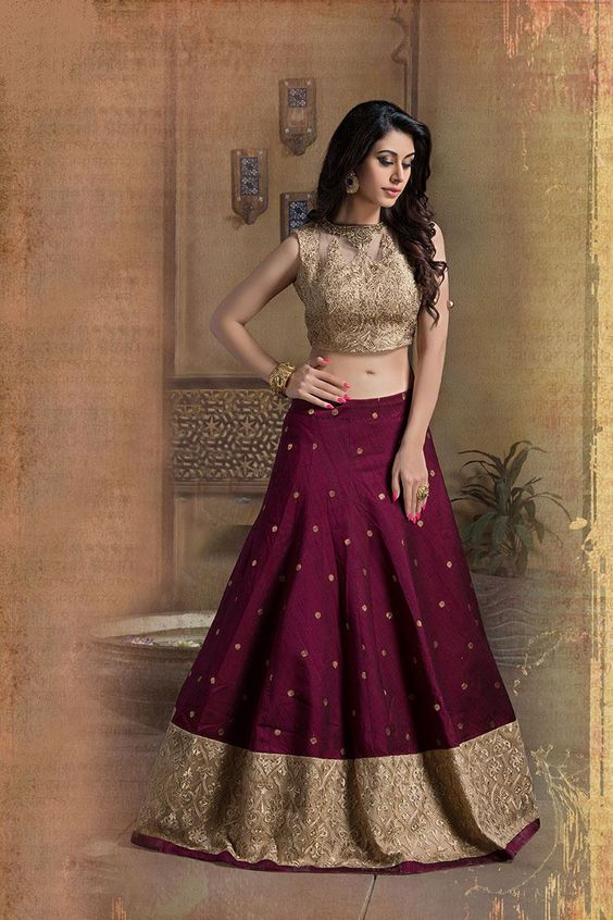 Golden lehenga choli blouse