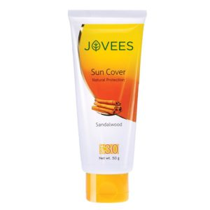 Jovees Sandalwood Sun Cover Natural Protection SPF 30 (50gm)