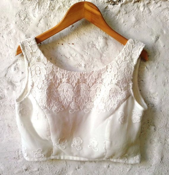 Top blouse design with lace