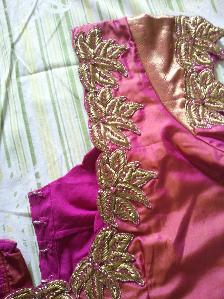 Maggam work blouse designs for wedding saree - Top blouse designs ...