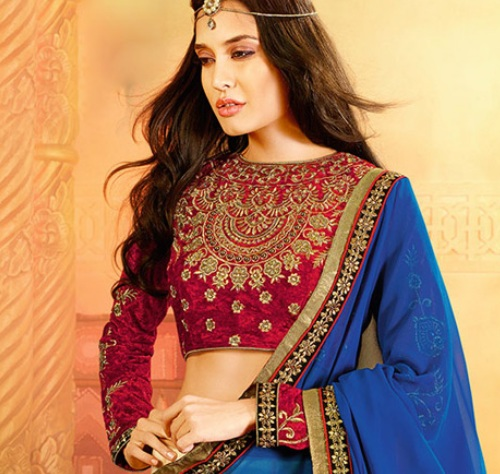 boat-neck-saree-blouses-7
