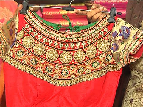 Best top latest fashion blouse designs with zardosi work for zari ...