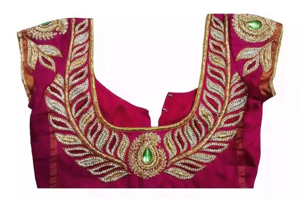 Latest zardousi blouse design