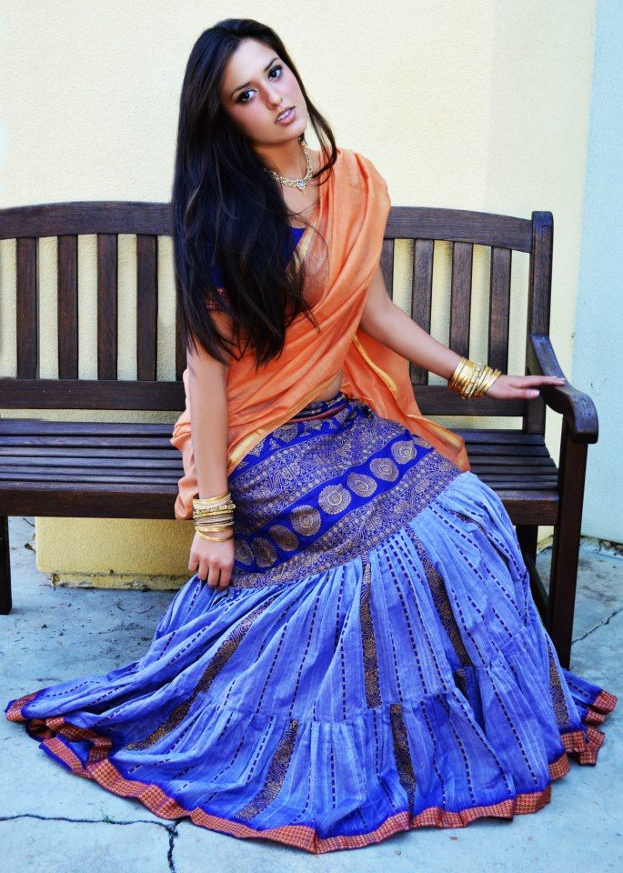 Mermaid style sari draping
