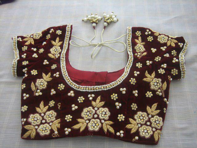 Normal Zardousi blouse design