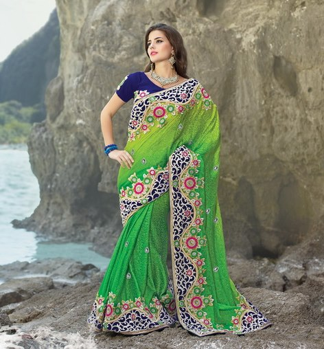Sari draping style for overweight