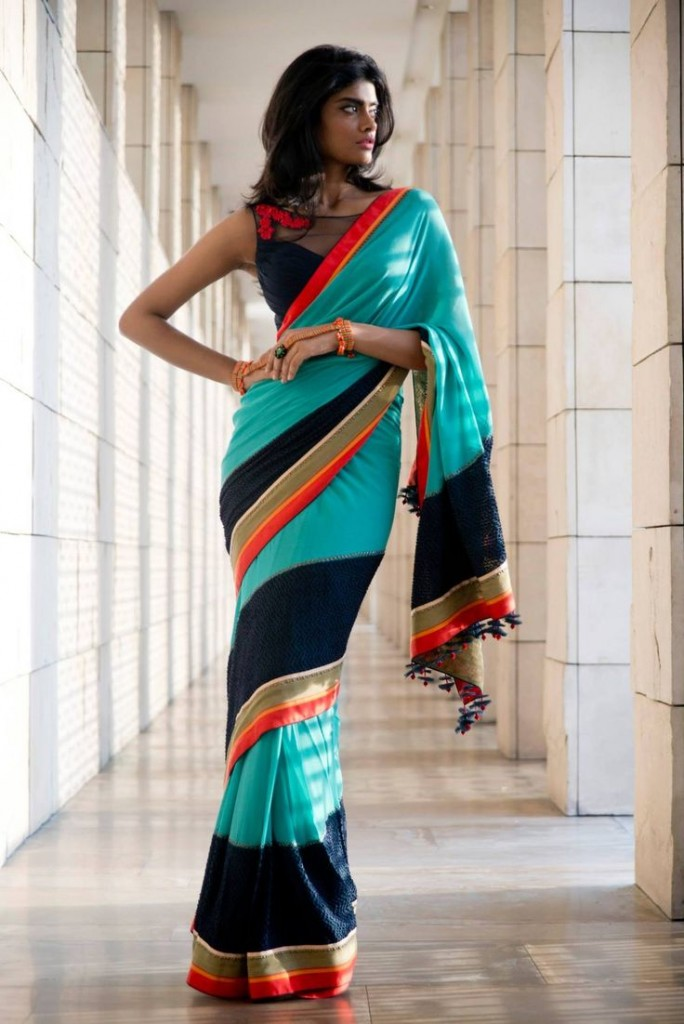Sari draping styles to look slim