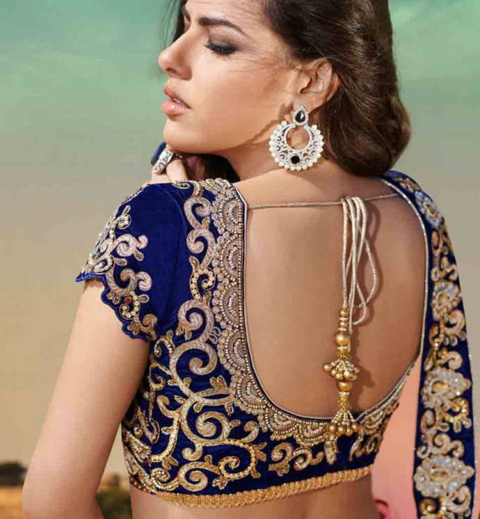 Not Backless saree blouses designs for women can