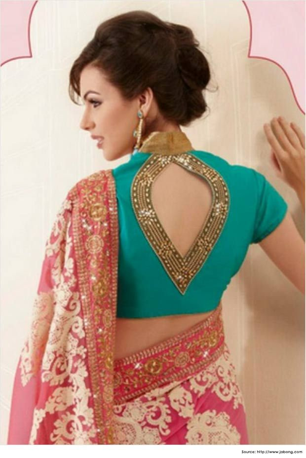 Mega sleeves blouse design for party