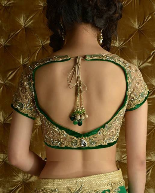 Trendy backless blouse design