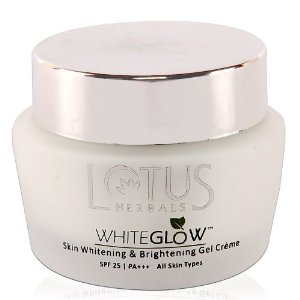 Lotus herbals white glow skin whitening and brightening gel cream SPF 25