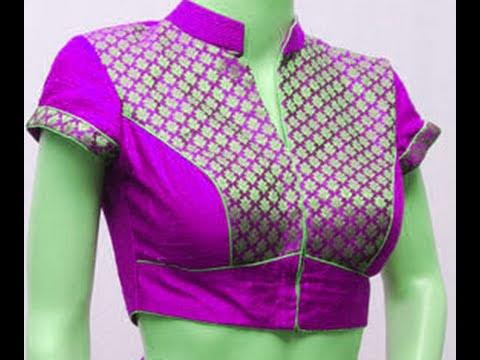 pink-collar-neck-blouse