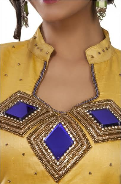 yellow-color-collar-neck-blouse