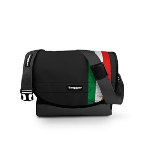 Tagger crew messenger laptop bag black – Disegno OLBK