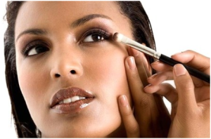 Use of concealer and makeup