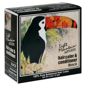 Light mountain natural hair color & conditioner black