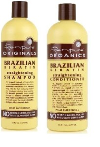 Renpure Organics Brazilian Keratin straightening shampoo and conditioner