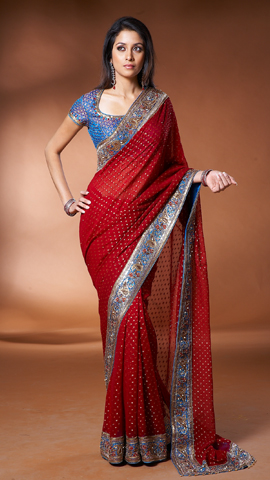 Single pallu draping style