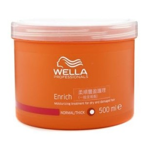 Wella enrich Moisturizing treatment for dry & damaged hair