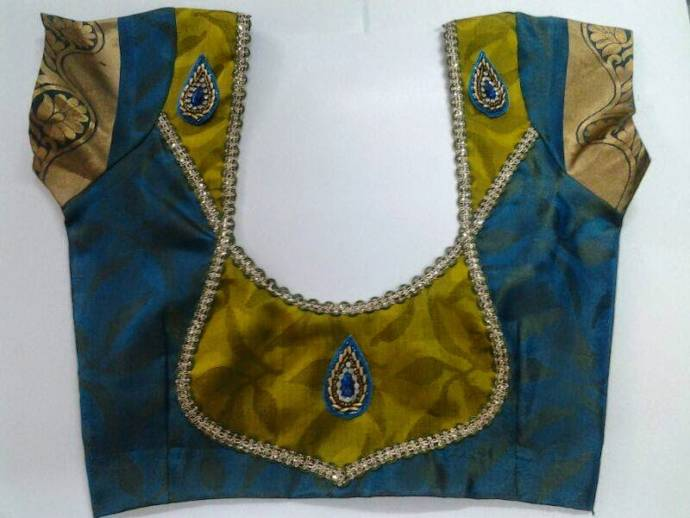 Patch Work Blouse Neck Designs 105