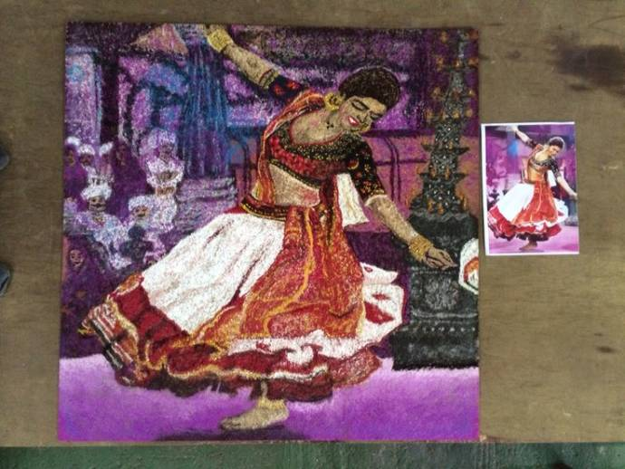 One Of The Best Ways To Excel A Competition Is When You Can Make Such Rangoli Design This Canvas Which Depicts Still Deepika