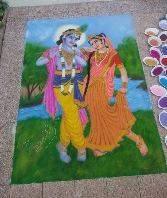 3 Rangoli Designs For Dussehra