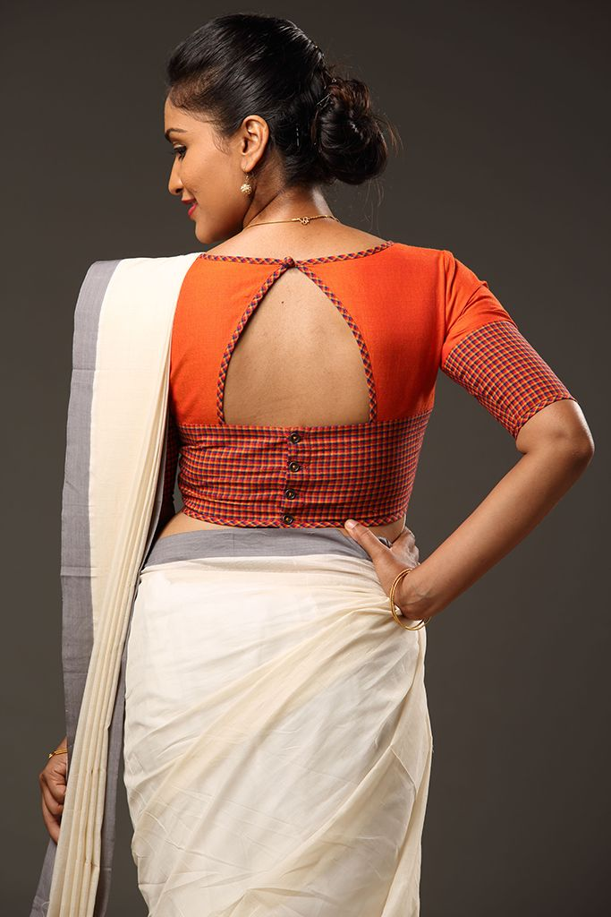 Blouse Back Neck Designs With Patch Work
