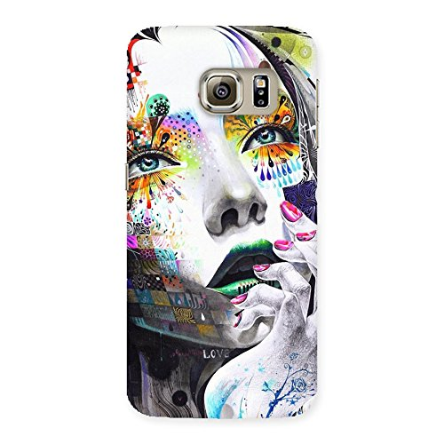 Abstract Thinking Women Back Case Cover for Samsung Galaxy S6 Edge