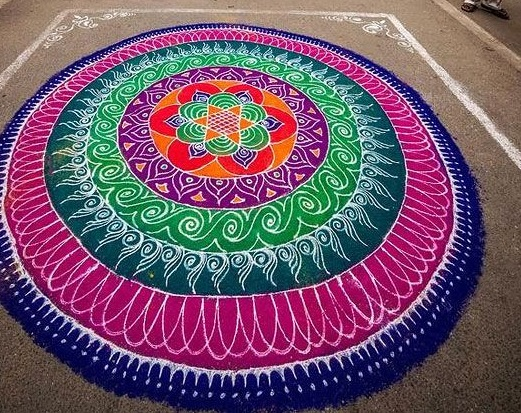 Big Rangoli design for pongal