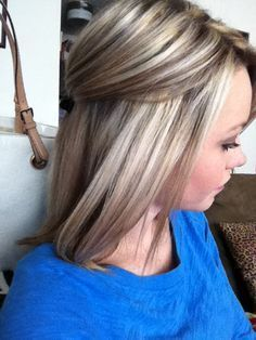 Black low lights on blonde hair