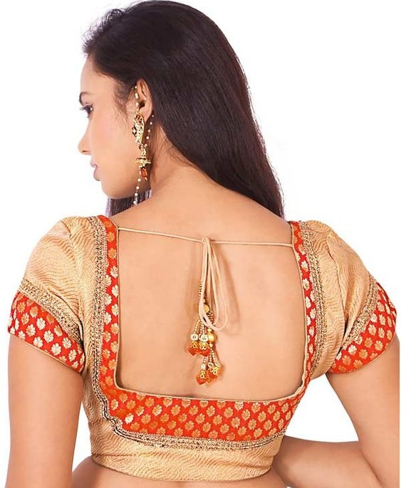 Box shaped patchwork blouse back design