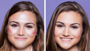 Contouring for heart shape face