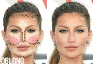 Contouring for oblong faces