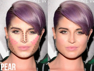 Contouring for pear shaped face