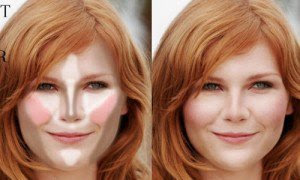 Contouring for round shaped face